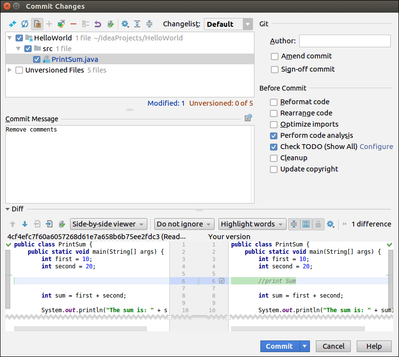 IntelliJ IDEA Version Control - javatpoint