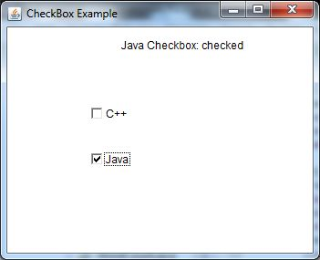 java awt checkbox example 2