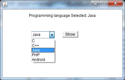 java awt choice example 2