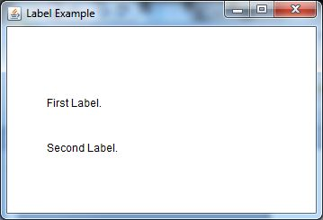 java awt label example 1
