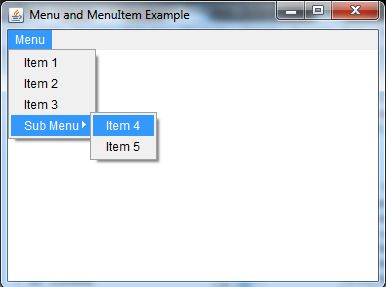 java awt menuitem and menu example 1