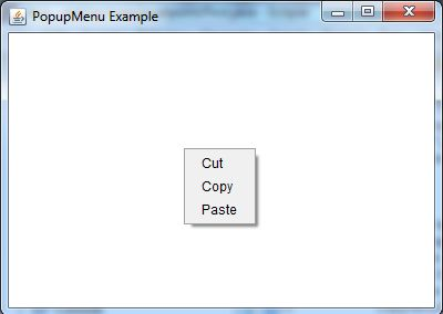 java awt popup example 1