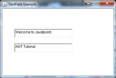 java awt textfield example 1