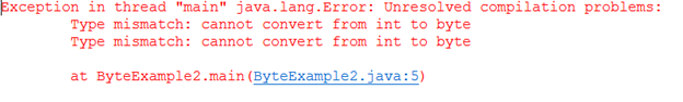 Java byte keyword
