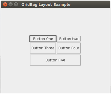 Java Gridbaglayout 1