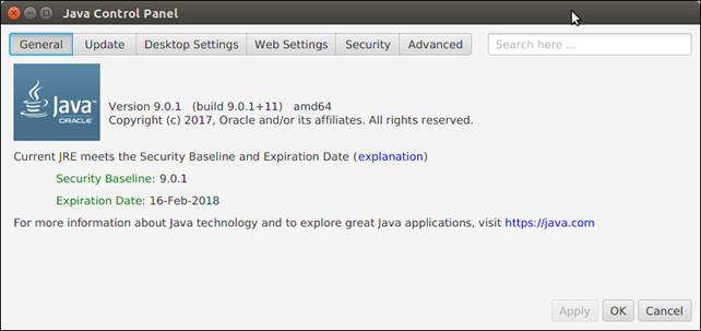 Java Control Panel 1