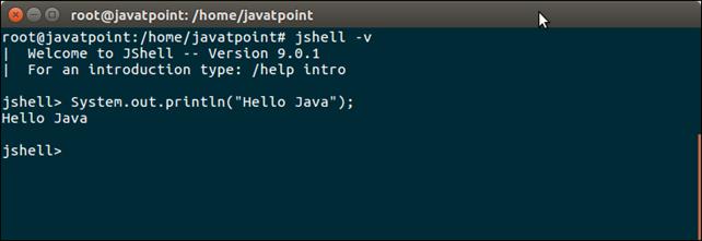 Java 9 Shell Tool 2