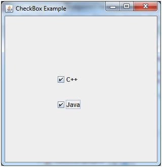 JAVA Jcheckbox 1