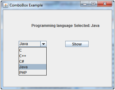 JAVA Jcombobox 2