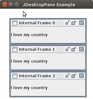Java Jdesktoppane