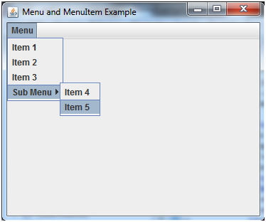 JAVA Jmenuitem and jmenu 1