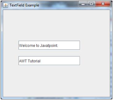 Java JTextField - javatpoint