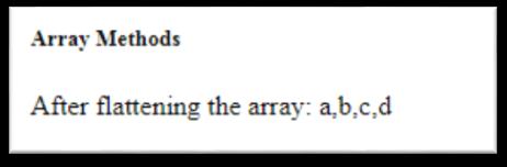 JavaScript Array flat() Method