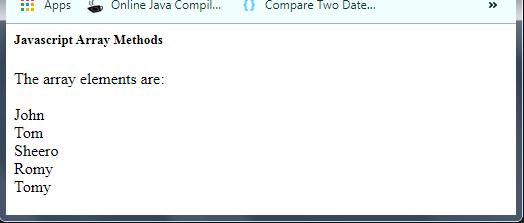 JavaScript Array values() Method