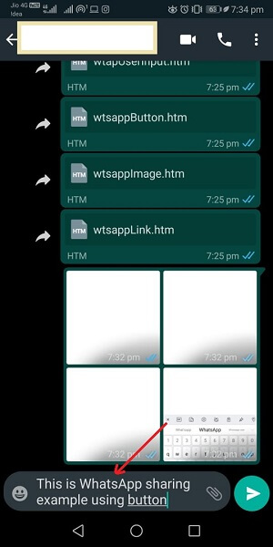 How to add a WhatsApp share button in a website using JavaScript