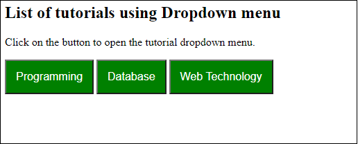 How to create dropdown list using JavaScript