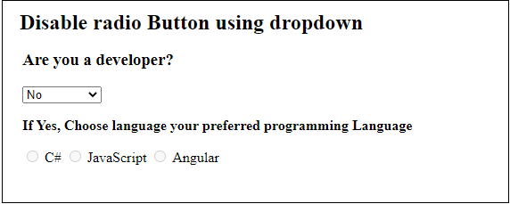 How to disable radio button using JavaScript