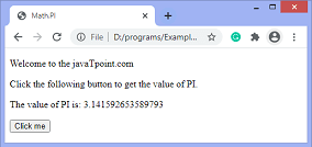 How to get the value of PI using JavaScript