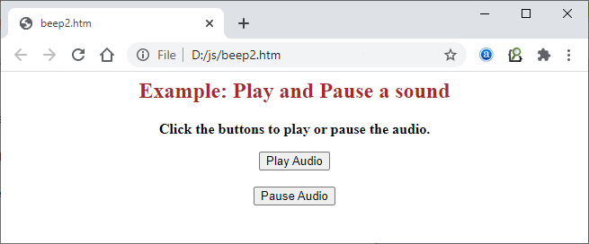 How to make beep sound in JavaScript