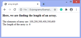 JavaScript array.length property