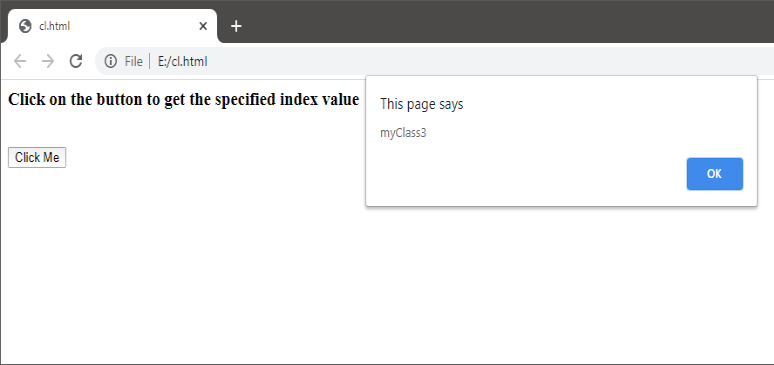 JavaScript classList