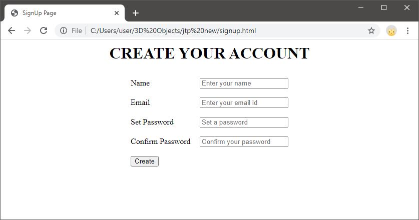 JavaScript Form