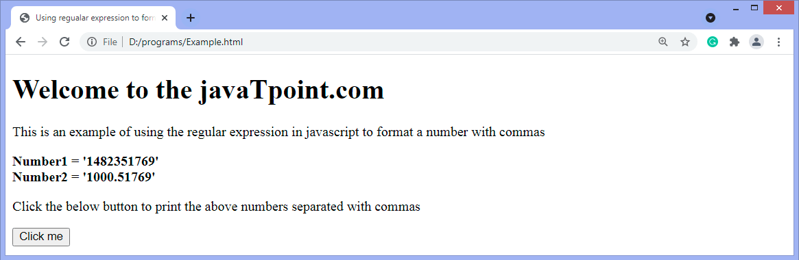 JavaScript format numbers with commas