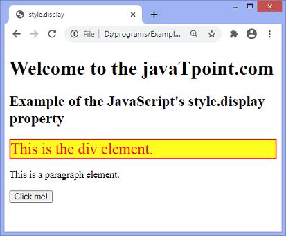 JavaScript hide elements