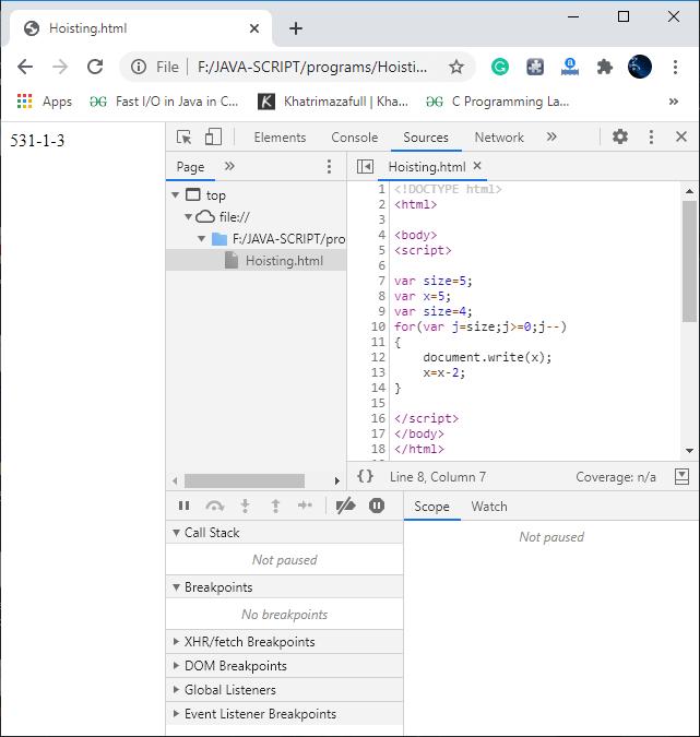 JavaScript MCQ