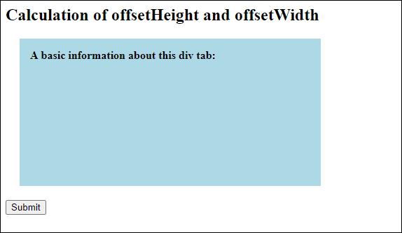 JavaScript offsetHeight