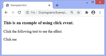JavaScript onclick event