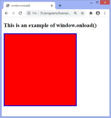 JavaScript onload