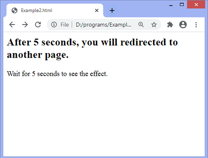 JavaScript redirect