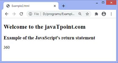 JavaScript return