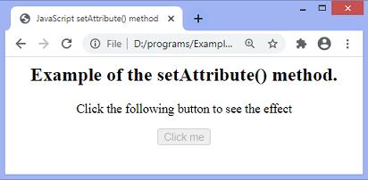 JavaScript setAttribute()