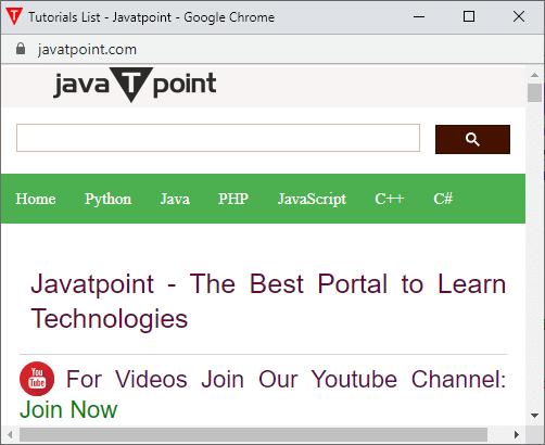 JavaScript Window open method