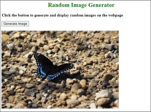 Random image generator in JavaScript