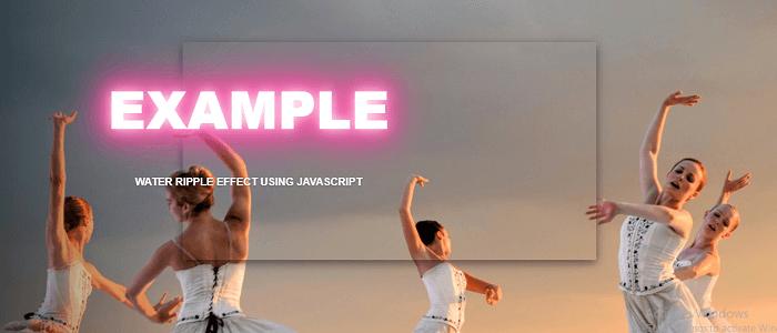 Ripple effect JavaScript