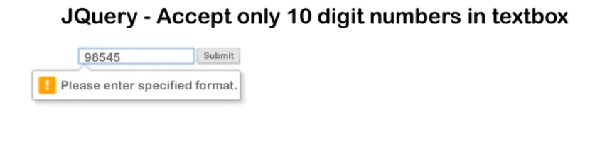 Allow only 10 numbers in textbox using Jquery