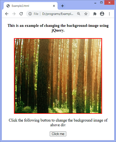 How to change the background image using jQuery