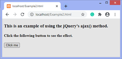 jQuery ajax() method