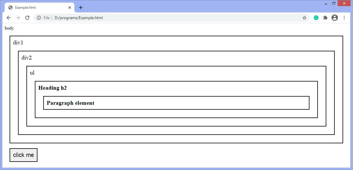 jQuery closest() method
