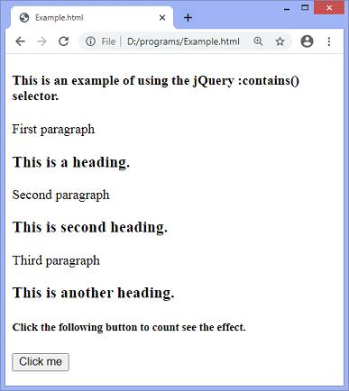 jQuery :contains() selector