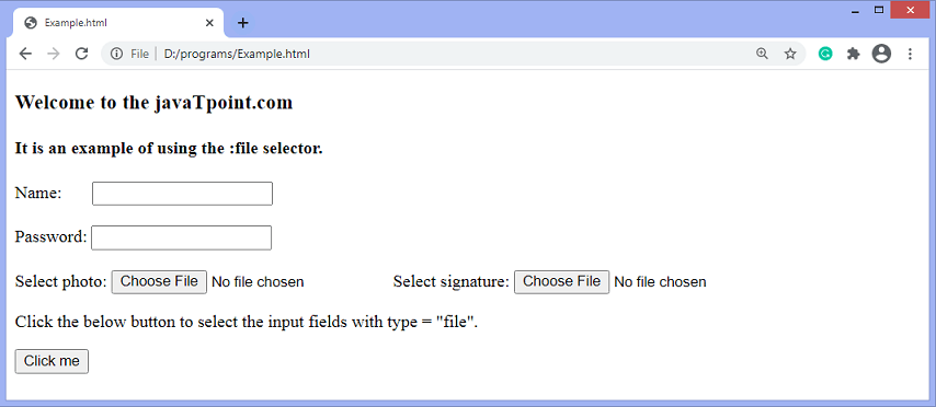 jQuery :file selector