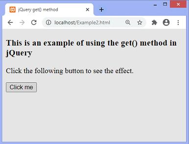 jQuery get() method