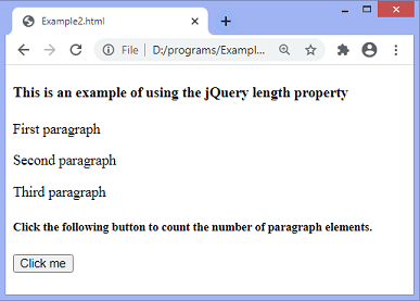jQuery length property