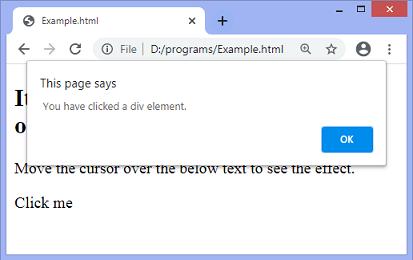 jQuery on() method