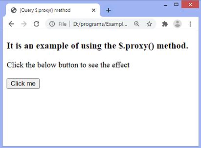 jQuery $.proxy() method