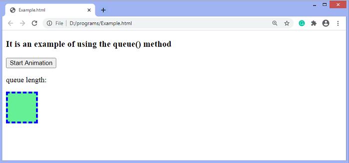 jQuery queue() method