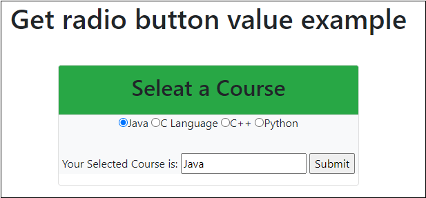 jQuery radio button
